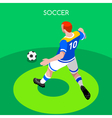 Soccer Striker 2016 Summer Games 3D Isometric vector image vector image