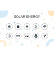 solar energy trendy infographic template thin vector image