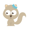 squirrel character isolated icon design vector image