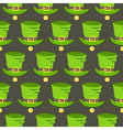 St Patrick Day hat and gold seamless pattern vector image vector image