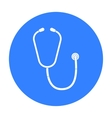 Stethoscope icon in black style isolated on white vector image vector image