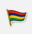 sticker national flag mauritius vector image