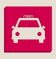 taxi sign grayscale version vector image vector image