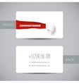 Torn paper template for business card sale promo vector image