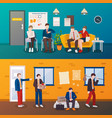 unemployed people flat compositions vector image
