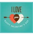 Valentines day greeting card and poster vector image vector image