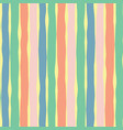 vertical lines seamless pink coral yellow green vector image vector image