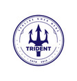 vintage retro trident neptune god poseidon triton vector image vector image