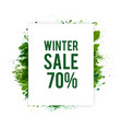winter-sale vector image vector image