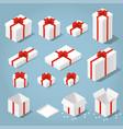 isometric gift boxes set vector image