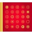 Original Christmas decoration set vector image