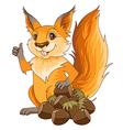 squirrel nuts vector image