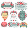 Floral label vector image