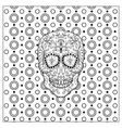 Mexican Day Of The Dead Skull vector image