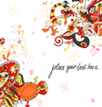 Floral and ornamental background vector image