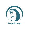 abstract penguin logo logo design template vector image