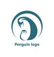 abstract penguin logo logo design template vector image vector image