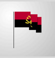 angola waving flag creative background vector image vector image