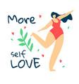 attractive overweight woman in red swimwear dance vector image vector image