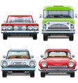 automobiles front view vector image