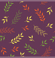 autumn leaves seamless pattern bright vector image