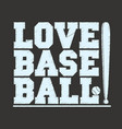 baseball sportswear emblem baseball t-shirt vector image