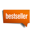 bestseller orange speech bubble isolated on white vector image vector image