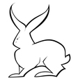 Black and white hare vector image vector image