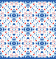 blue red pattern flower boho background vector image vector image