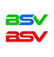 bsv letter logo collection vector image vector image