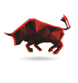 Bull abstract isolated vector image vector image