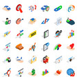 career in company icons set isometric style vector image vector image