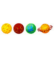 cartoon planets for game design set vector image vector image