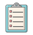 check list icon cartoon style vector image vector image