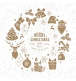 Christmas design frame decoration vector image vector image