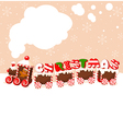 christmas gingerbread train vector image vector image