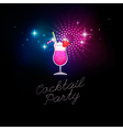 coctail party blue vector image vector image