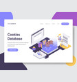 cookies database isometric vector image vector image