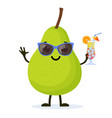 cute and funny pear character vector image vector image