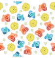 cute pattern in small different flower vector image vector image