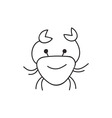 Doodle crab animal icon vector image