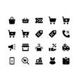 e commerce glyph icons