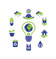 eco green logo icon symbol collection vector image vector image