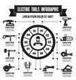 electric tools infographic simple style vector image vector image