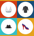 flat icon dress set of heeled shoe uniform vector image vector image
