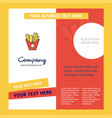 fries company brochure template busienss template vector image vector image