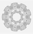 geometrical and flower round mandala vector image