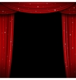 Glittering red curtain Open vector image vector image
