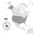 grey political map usa vector image