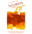happy halloween poster design template vector image vector image